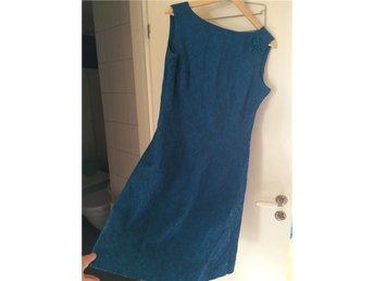 Vintage - klänning, blå/grön, stl. 40 - Göteborg - Vintage - klänning, blå/grön, stl. 40 - Göteborg