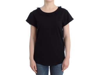 Galliano - Black cotton shortsleeved top