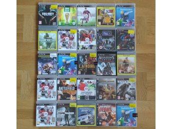 25 spel till PlayStation 3 PS3 Call of Duty Assassins Creed Tomb Raider NHL