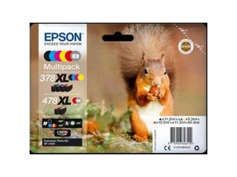 Epson C13T379D4010 Multipack 6-colours 478XL Claria Photo HD Ink