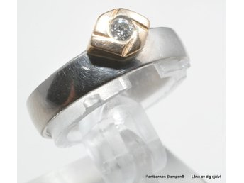 Diamantring  18k 4,5gr Ø17,30mm 1x0,07ct
