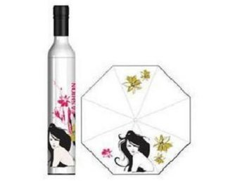 *AsianHome* NY! Japanska Lady Wine Flaska paraply Vit