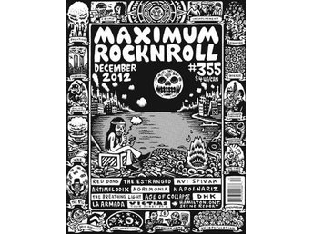 Maximum Rocknroll Magazine *355 Dec 2012 - MAGAZINE NY - FRI FRAKT
