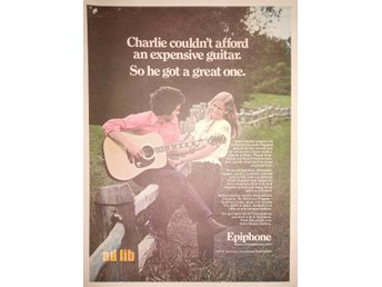 EPIPHONE - MAKERS OF FINE GUITARS SINCE 1873 STOR TIDNINGSANNONS 1974
