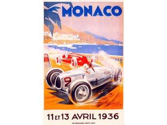 MONACO GRAND PRIX 1936 & 1937 EXTREM ART DÉCO Motorsport race 2 x A2 posters - Helsingborg - MONACO GRAND PRIX 1936 & 1937 EXTREM ART DÉCO Motorsport race 2 x A2 posters - Helsingborg