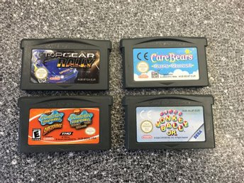 Spelpaket Game Boy Advance: Spongebob, care bears mm