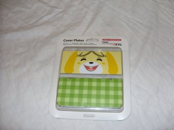 Nintendo 3DS Animal Crossing & Isabelle Green Cover Plates & Skal Nya!