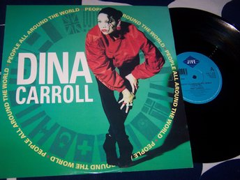 "DINA CARROLL - PEOPLE ALL AROUND THE WORLD 12"" 1989 VG++"