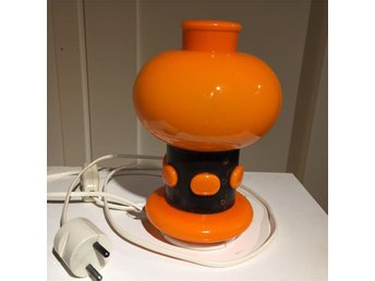 BORDSLAMPA orange retro 60-/70-tal