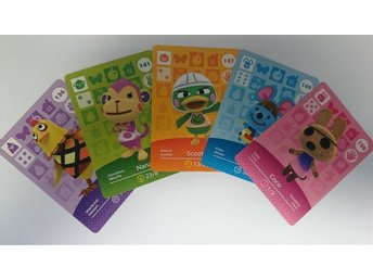 Animal Crossing Amiibo Cards series 2 Nr 136, 141, 147, 149, 150