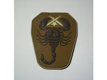 PVC Velcro Patch Iraqi scorpion unit grön/svart - Sundborn - PVC Velcro Patch Iraqi scorpion unit grön/svart - Sundborn