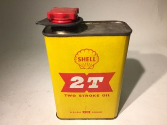 Fyrkantig Oljeburk Shell 2T Two Stroke Oil