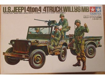 US Jeep with Trailer. Skala 1:35