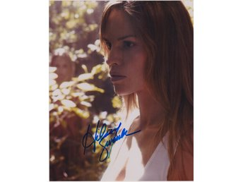 HILARY SWANK AMERICAN ACTRESS PRE-PRINT AUTOGRAF FOTO
