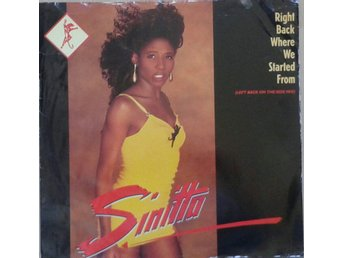 "Sinitta title* Right Back Where We Started From* Synth-pop 12"" UK"