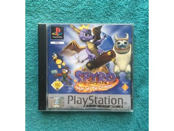 Spyro Year Of The Dragon PS1 Playstation PAL Tysk utgåva OK SKICK!