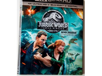 Jurassic World 2 - Fallen Kingdom - Blu-ray med Slipcover + DigiCode - Regionfri