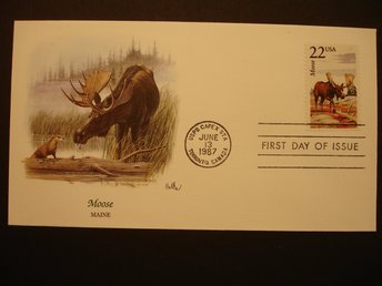 Älg - Moose - USA - FDC