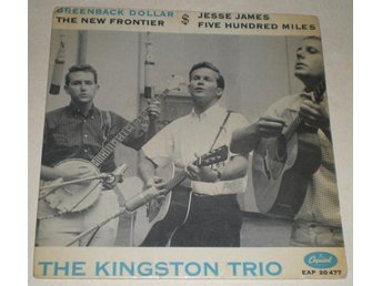 Kingston Trio OMSLAG EP Greenback dollar 1963