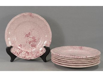 7 assietter -Monique-Wedgwood-England 20cm