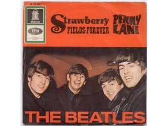 "BEATLES - Strawberry Fields Forever  7"" Singel  Tyskland"
