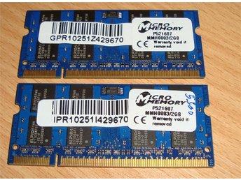 2x2 Gb PC5300 till Laptop - Hisings Backa - 2x2 Gb PC5300 till Laptop - Hisings Backa