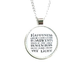 Halsband - Happiness can be found... - Dumbledore - Harry Potter