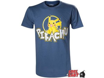 Pokemon Pikachu T-Shirt Mörkblå (Large)