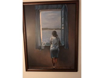 Figure at the Window Dali (Framed Laminated Print)