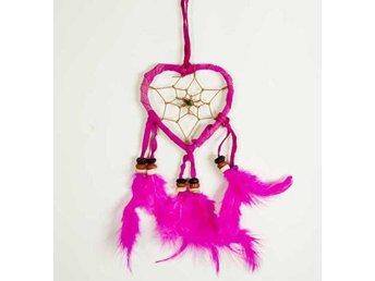 Hjärtformad rosa drömfångare, 7cm - Borås - Hjärtformad rosa drömfångare, 7cm - Borås