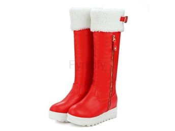 Dam Boots Warm Fur Winter Footwear Shoes Size 33-45 Red 40