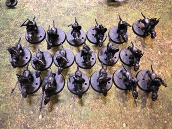 Lord of the rings Lotr Warg riders 18st