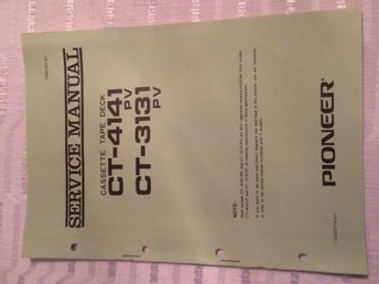 Pioneer CT-4141 CT-3131 pv tape deck Service Manual 1973