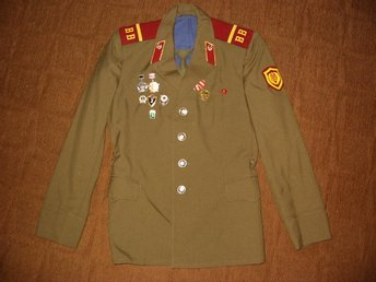 The uniform of a soldier of the USSR of the 80s.