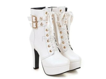Dam Boots Fashion Autumn Winter Shoes Size 32-47 White 40