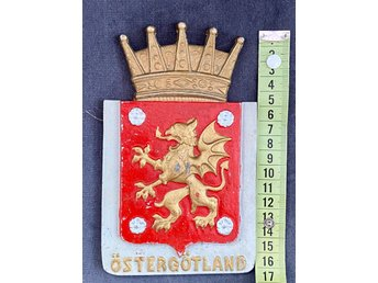 Ostergotland Landskapsvapen Metall 409939492 ᐈ Kop Pa Tradera