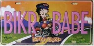 Betty Boop License Plate Biker Babe Nummerskylt.