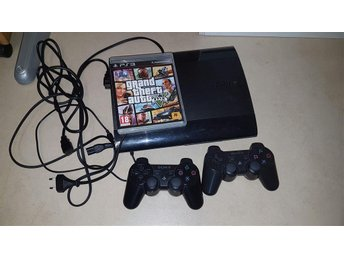Ps3 Playstation 3 konsoll med 2 kontroll