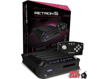 Retron 5 Black Edition (Europeisk Version) inkl. 2st Trådlösa Handkontroller