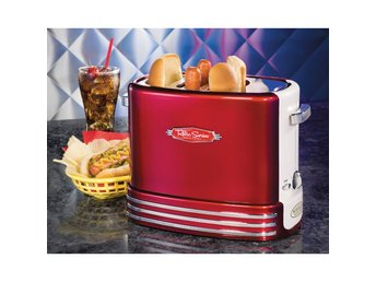 Retro Line / Hot dog pop up toaster Röd-vit