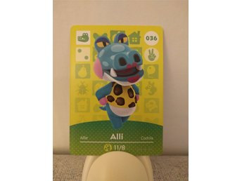 Animal Crossing Amiibo Welcome Amiibo card nr 036 Alli