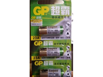 3 x Batteri 23A 12V GP A23, V23GA, 8LR23 Super Alkaline Battery