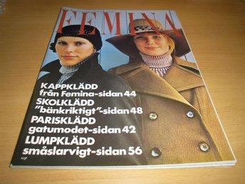 TIDNING FEMINA 36/1970 MODE INREDNING PARIS KLÄDD LUMP - Uppsala - TIDNING FEMINA 36/1970 MODE INREDNING PARIS KLÄDD LUMP - Uppsala