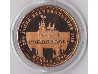 200 Jahre Brandenburger Tor Berlin 1991 Tyskland ca 9g Proof
