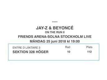 Jay-Z & Beyoncé - On the Run II - Friends Arena