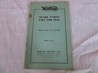Norton 1956 models ES2 , 19S and 50 Spare parts list