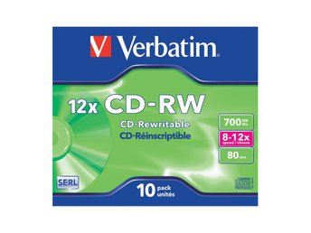 VERBATIM CD-RW 700MB 10-pack Spindel