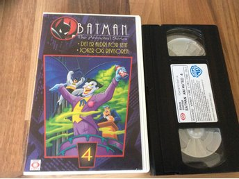 BATMAN  del 4 The Animated Series NORSK VHS