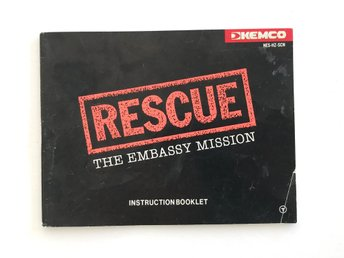 Rescue: The Embassy Mission – manual till Nes 8-bitars, märkt med SCN