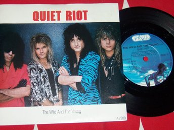 "QUIET RIOT - THE WILD AND THE YOUNG 7"" 1986 TOPPSKICK!!"
